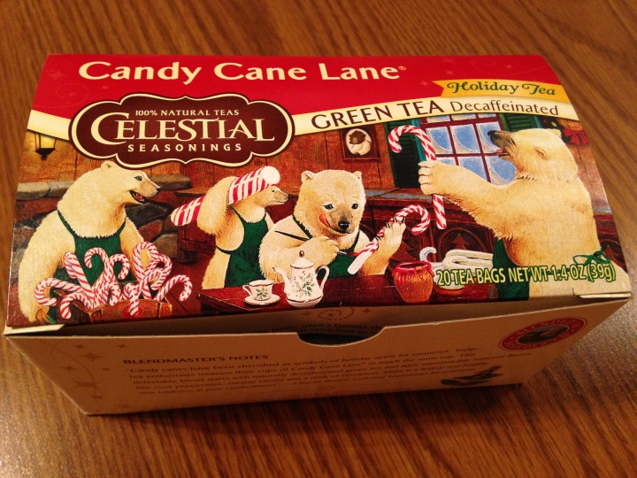 Candy Cane Lane is a delicious peppermint vanilla green tea.