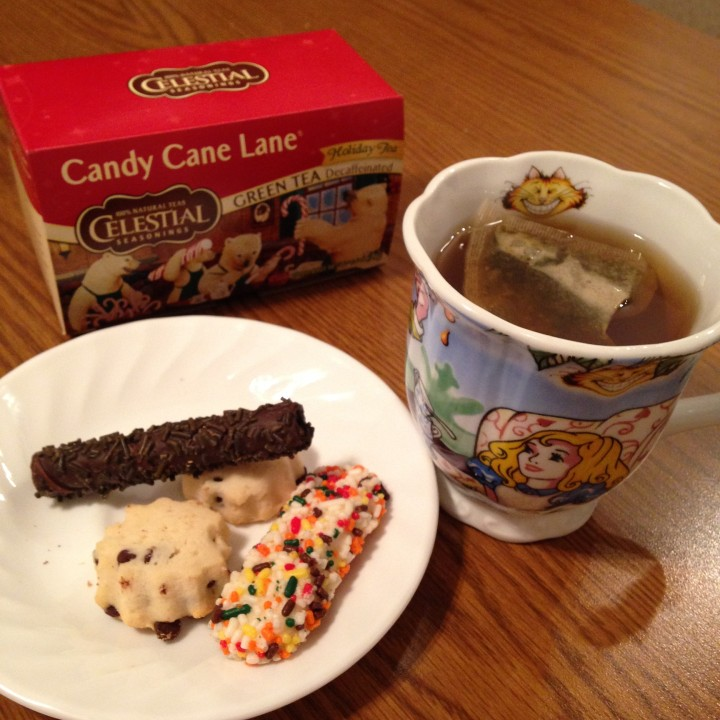 I like to drink Candy Cane Lane when I'm snacking on cookies.