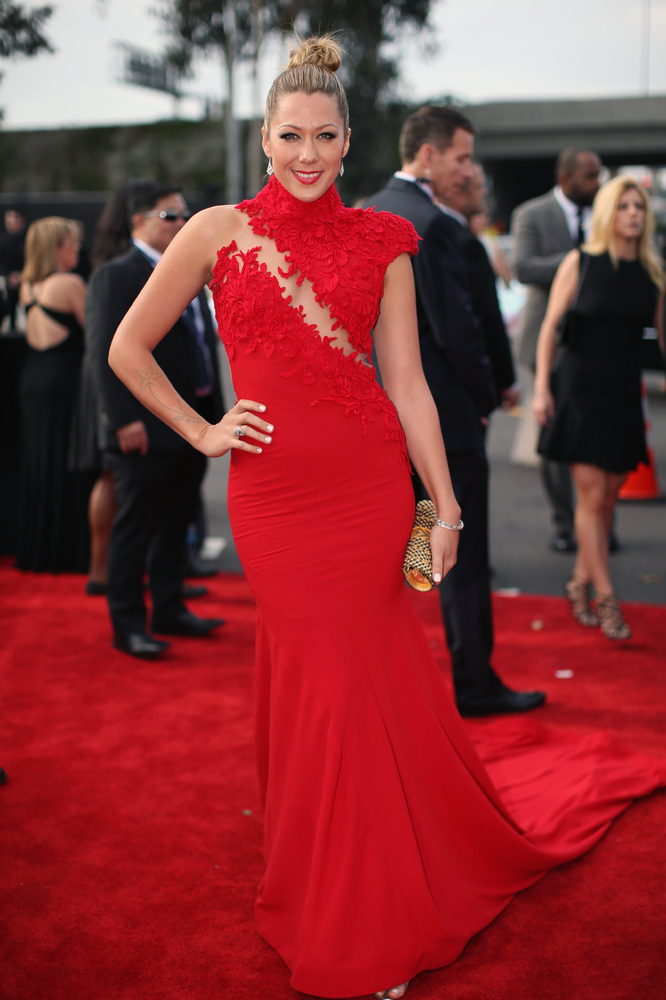 Colbie Callait in Ezra Couture, Claude Morady Estate Jewelry, ITA Collection and Jimmy Choo