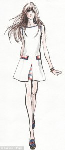 One of the designs from Zooey's Tommy Hilfiger line. Photo/TOMMY HILFIGER