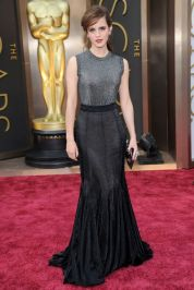 Best: Emma Watson is a sophisticated lady, and she wore the part well in this black Vera Wang gown. The sparkling top meshed well with the dark skirt, and her dark red lip followed suit for a chic, vampy look. Photo/GETTY