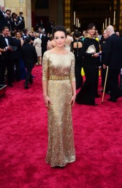 Best: Sara Ishaq's golden gown was sparkling and detailed-- another great Hollywood Glam look.