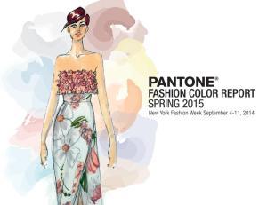 Pantone Announces Fashion Color Report Spring 2015. (PRNewsFoto/Pantone LLC)