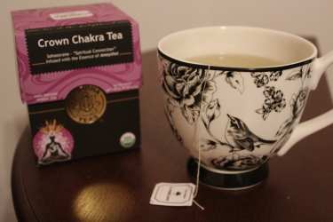 Connect with your higher self by drinking a few cups of Buddha Teas' Crown Chakra herbal tea. I love to enjoy it in my huge bird mug. :)