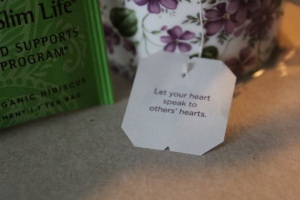 One of my favorite parts about Yogi tea is the phrases on the tea tags — they always leave me feeling inspired.