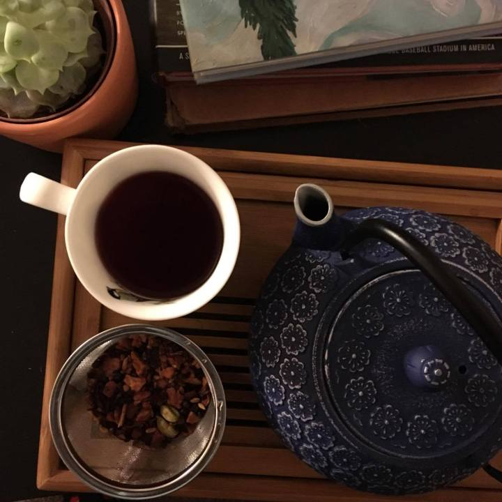 Teavana's Mulled Pomegranate Cider tea is perfect for fall