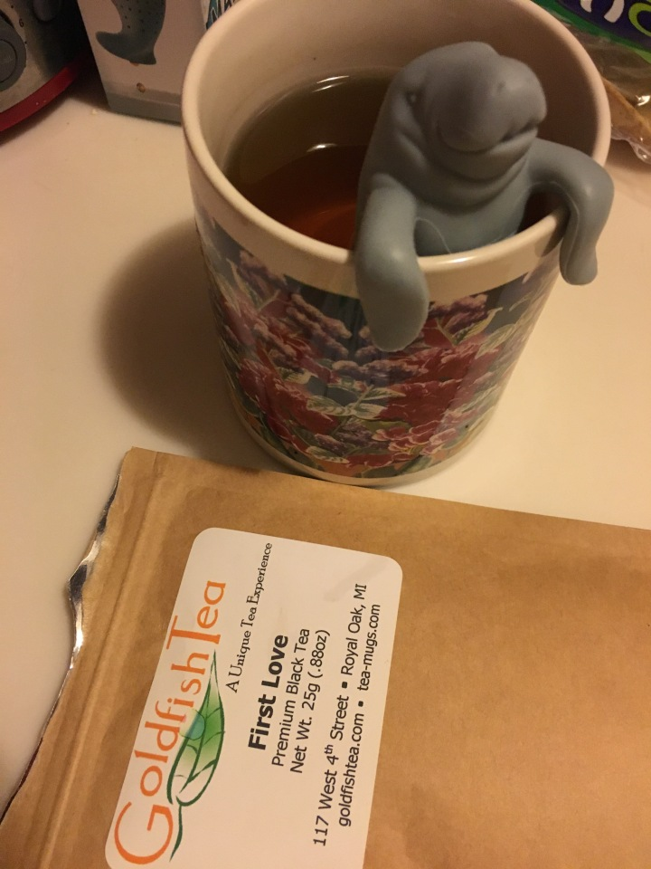 First Love Tea in my Manatea + weather warm enough for a bike ride