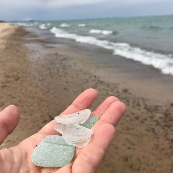 Lake Michigan sea glass adventures (my new hobby)