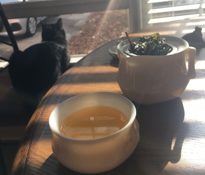 Enjoying some Teavivre Dong Ding oolong on National Hot Tea Day