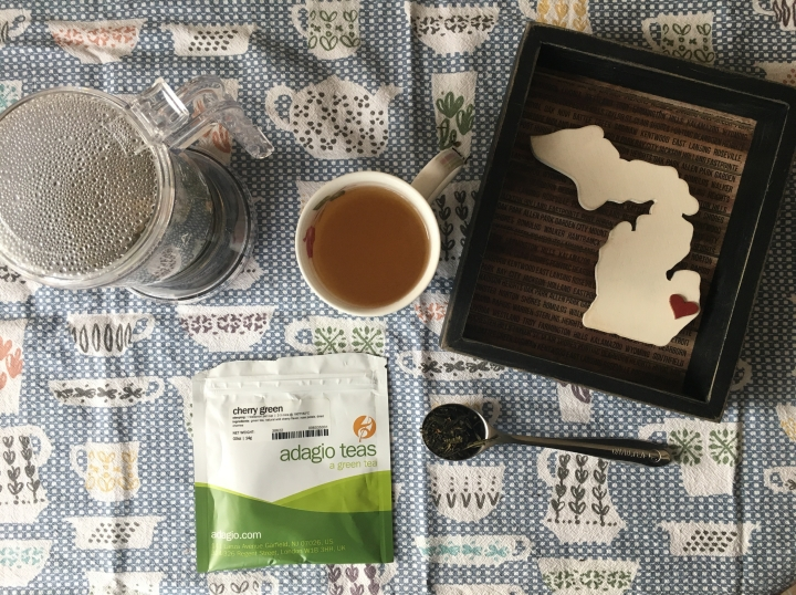 Review: Adagio cherry green tea