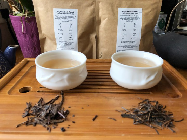 Hojicha Gold and Dark roast green tea